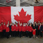 Group shot Canada flag