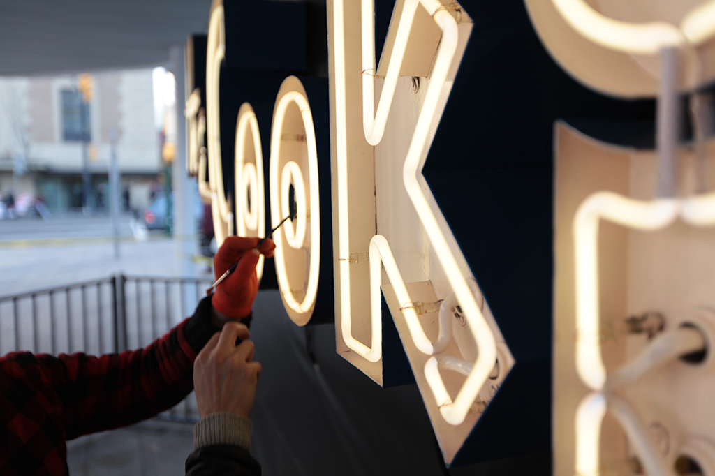 Lumiere Vancouver Cookie Neon Sign Exterior